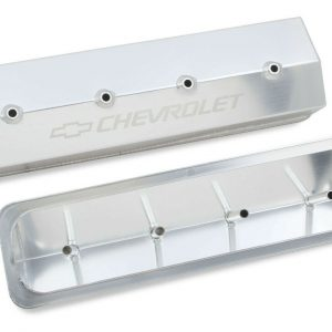 Holley 241-285 Aluminum Silver Valve Covers for 87-97 Chevy 305-350 Small Block