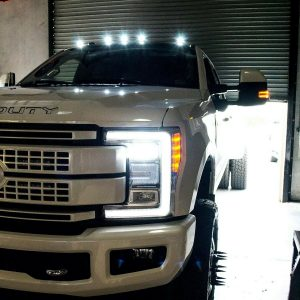 Recon 264343WHBK LED Cab Roof Lights for 2017-2019 Ford F-Series Super Duty