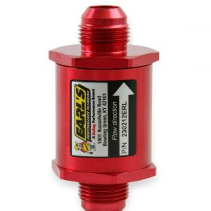 Earls 230212ERL Red Fuel Filter w/ Screen Type Element - 85 Micron - 12 AN
