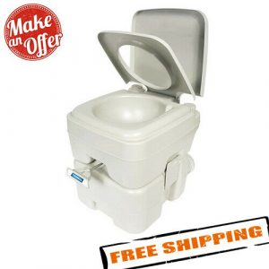 Camco 41541 Portable 5.3 Gallon Travel Toilet for Camping, RV & Boating