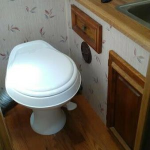 Dometic 302300071 RV 300 Series 18 Inch Toilet Full-size Seat Lightweight White