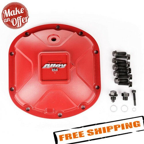 Alloy USA 11210 Aluminum Dana 30 Differential Red Cover for 12-17 Jeep Wrangler