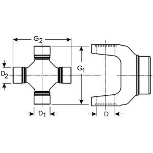 Dana Spicer 5-648X Universal Joint, Conversion U-joint 1330 to 1350 Series